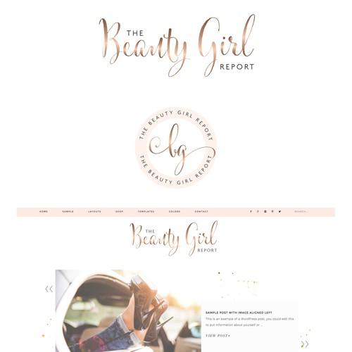 Design a chic, modern logo for The Beauty Girl Report Blog