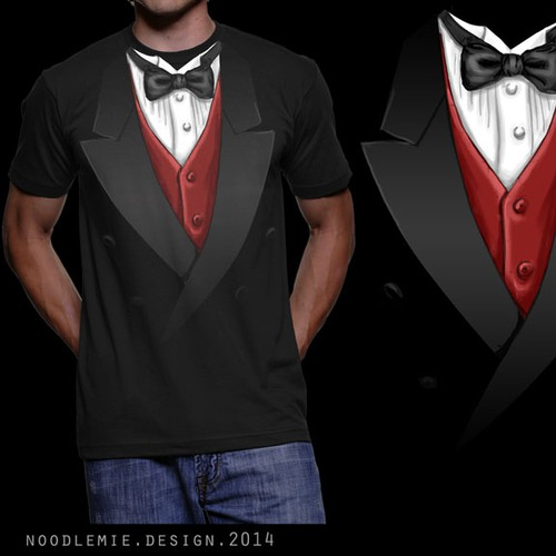 "T-Shirt ""Tuxedo"" - multiple Winner possible"