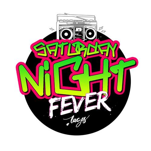 Hip hop style party logo