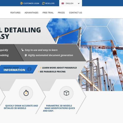 Website for a 3D modeling software