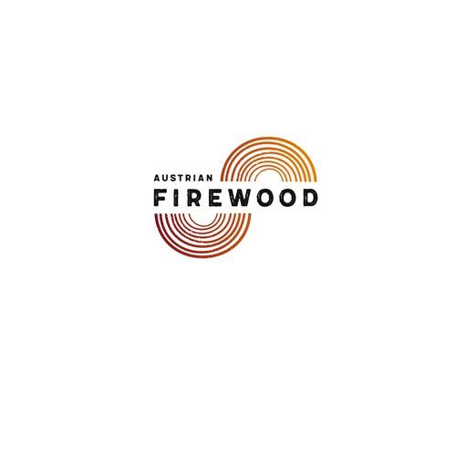Logokonzept für einen Versender von Feuerholz