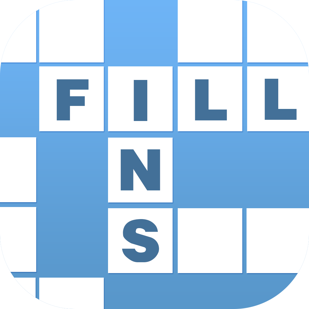 Design a new iOS app icon for a Fill-In puzzles game
