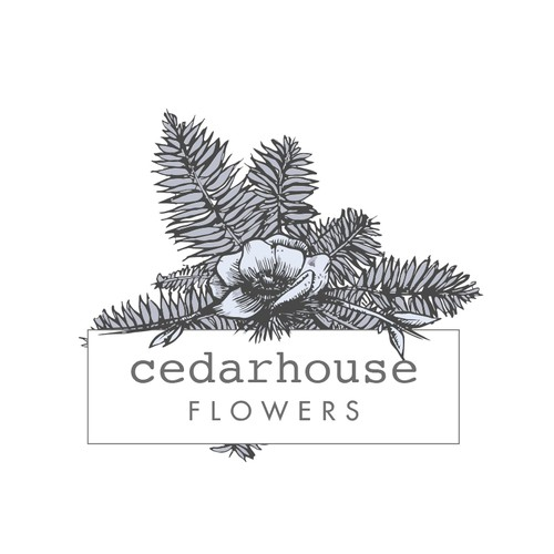 Floral hand drawn logo