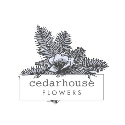 Floral hand drawn logo