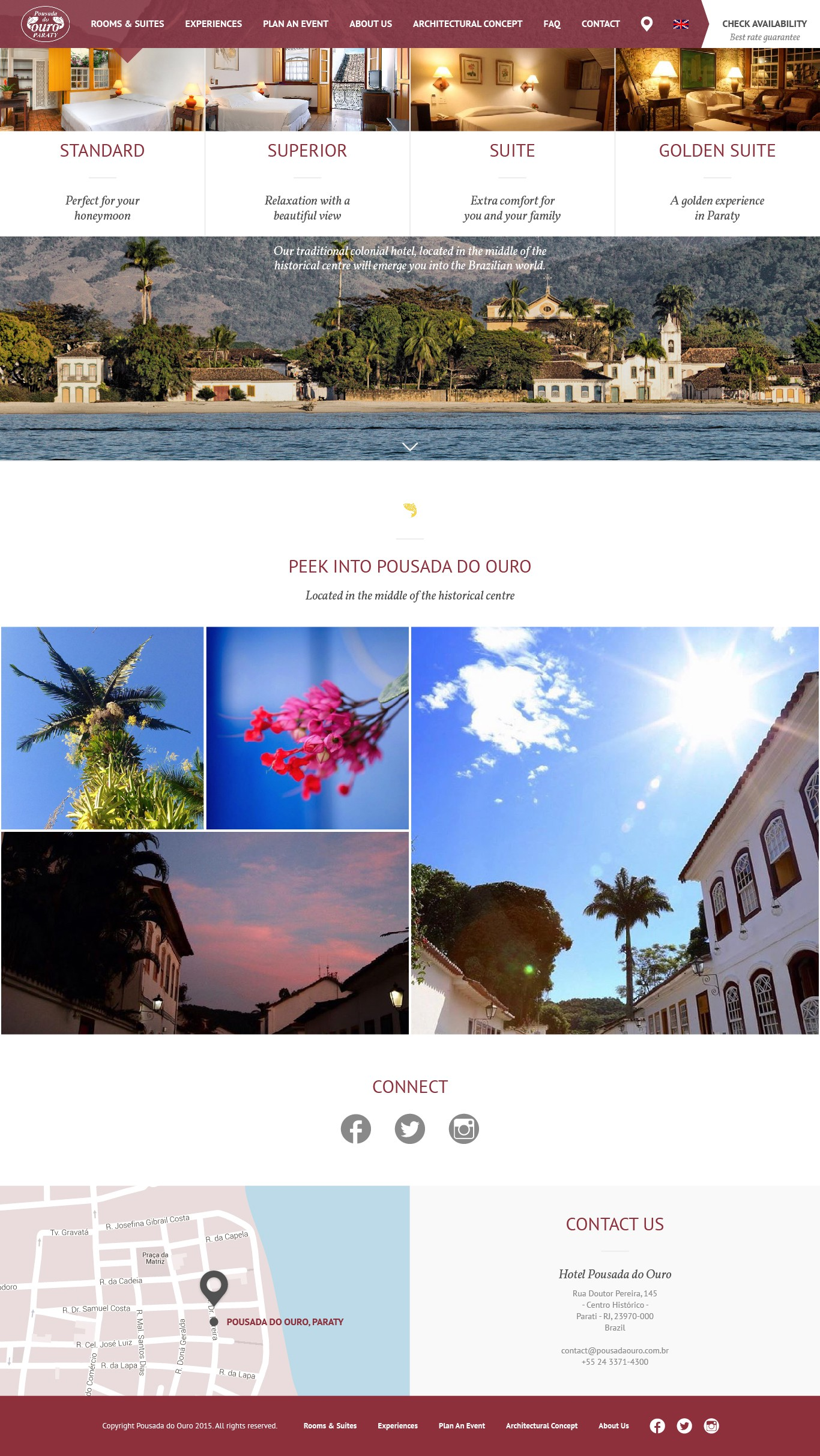Create a breathtaking site for a Hotel in Paraty - Brazil