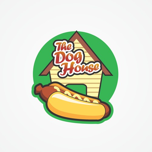 Create a killer classic hot dog cart logo for a University of British Columbia