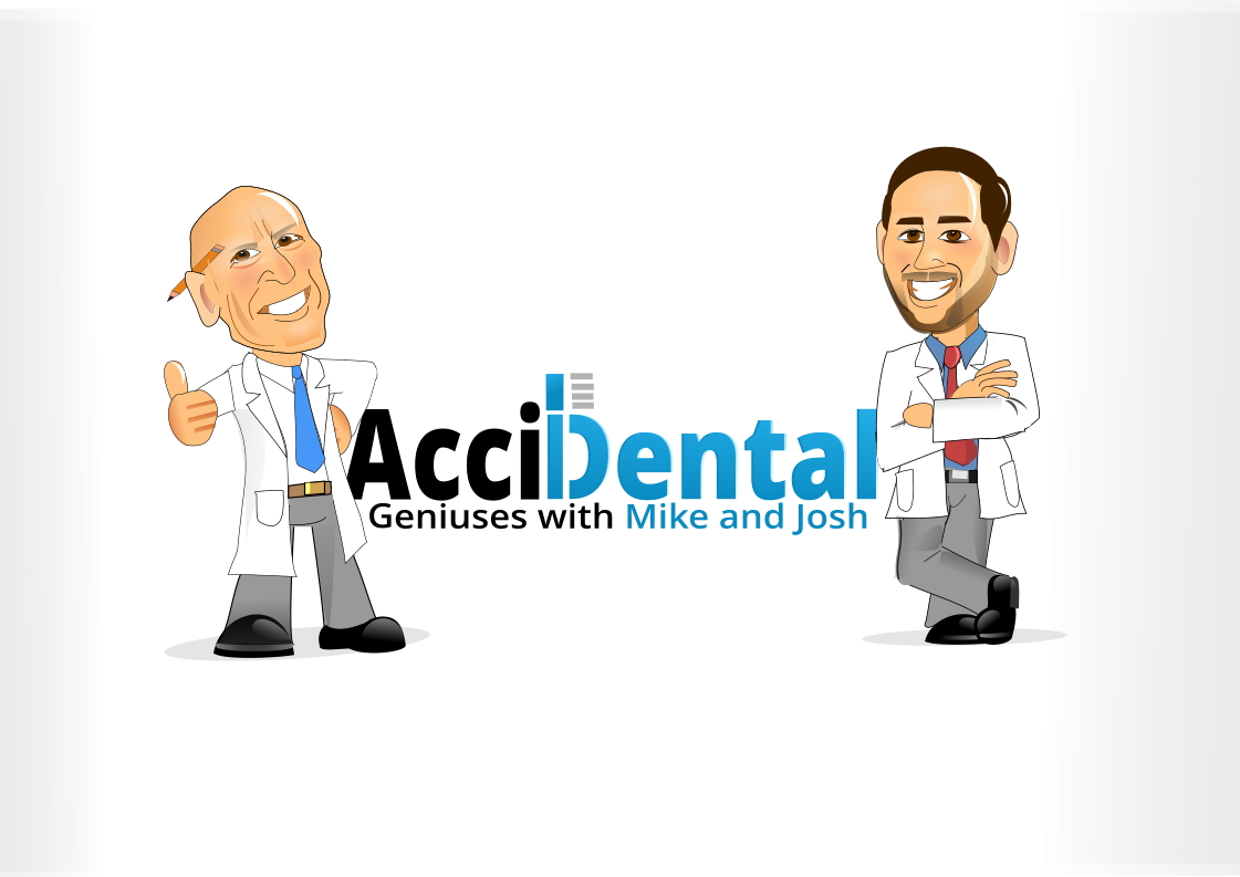 Create a podcast logo for America's two funniest dentists