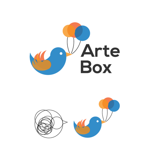 Create a high-end, earthy, eye capturing logo to represent art activities delivered to kids
