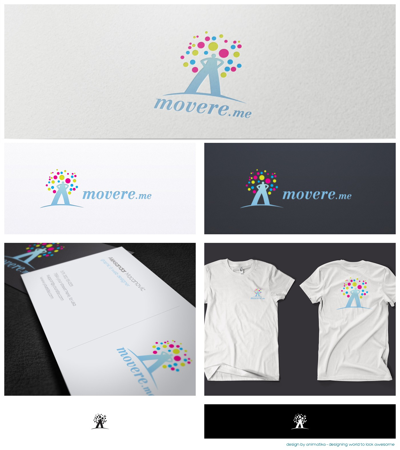 a new logo for movere.me, a brazilian site of crowdfunding