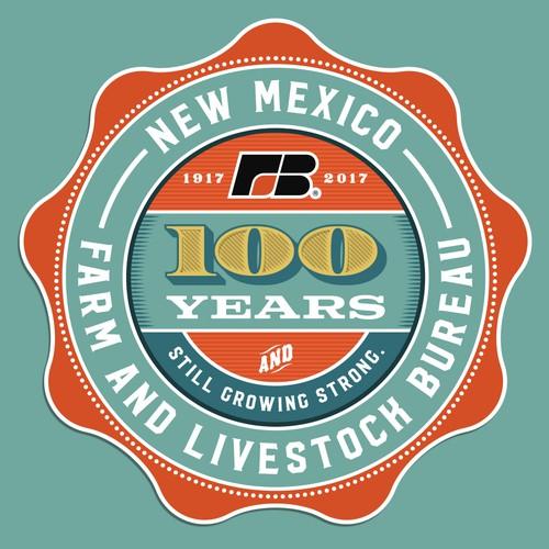 New Mexico Farm & Livestock Bureau 100 year logo