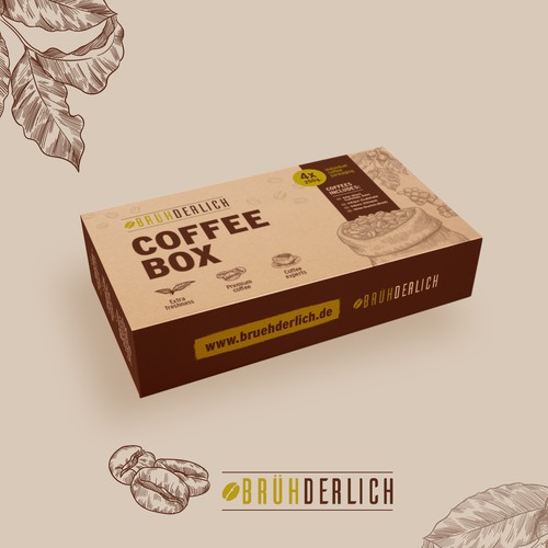 Packaging design for a premium coffee gift box