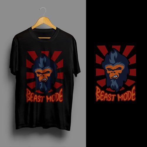 T-shirt design for BEAST MODE