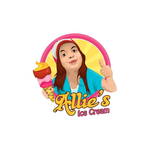 girl holding ice cream cone trucklogo