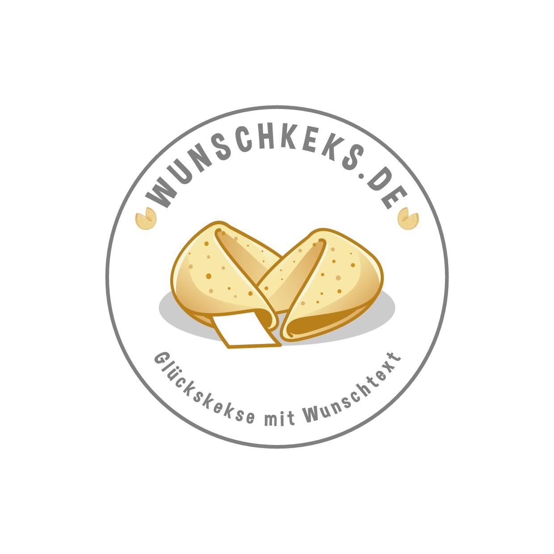 "Inviting new logo for custom fortune cookie webshop ""wunschkeks.de"""