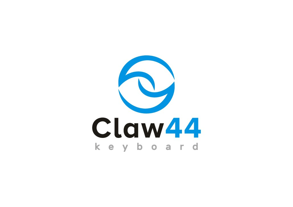 Design cool & simple logo for DIY keyboard with 'Claw44'.