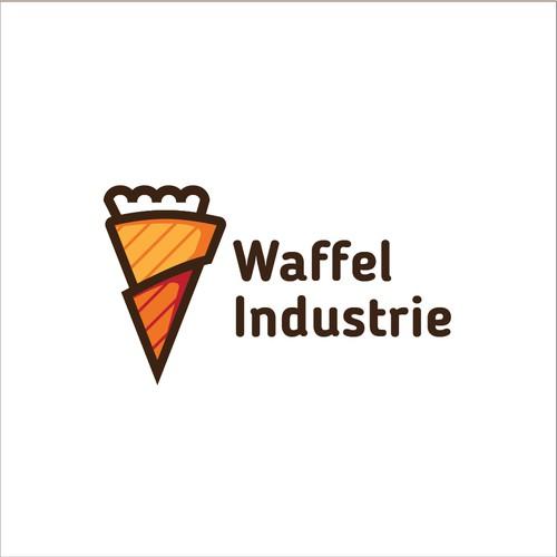 Cartoon Waffel Industrie Logo
