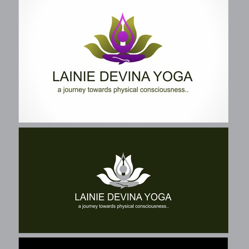 create a Moving and Powerful logo for a Yoga Teacher/Brand