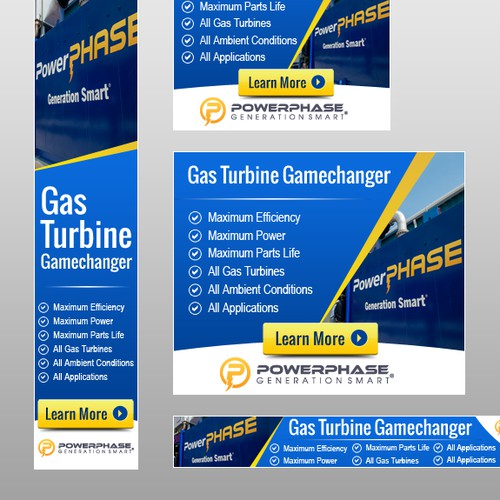 Banner ads design for PowerPHASE