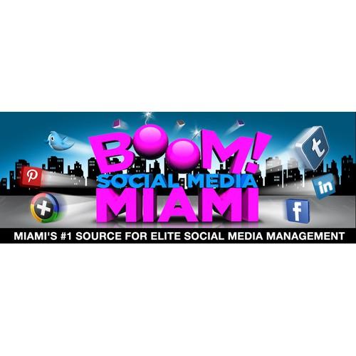 Boom Social Media Miami needs a new banner ad