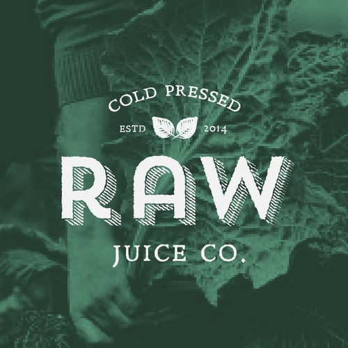 RAW Juice Co logo design