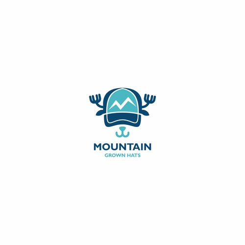 Unique logo concept for children's hat brand.