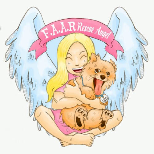 Create cartoon pic of our Rescue puppy mill ambassador Ark for Free And Alive Rescue!