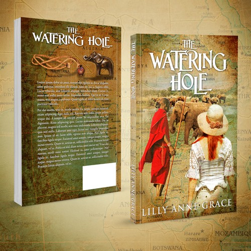 THE WATERING HOLE : A Young Adult Fiction Book Cover and E Book Cover design.