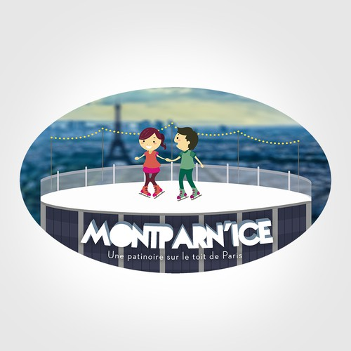 Visual Identity for Ice Skating in Paris on the top of a tower