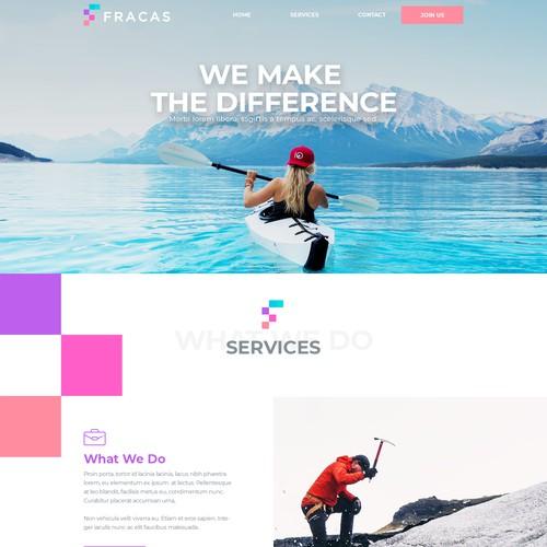 Website design for Fracas, a management consulting firm