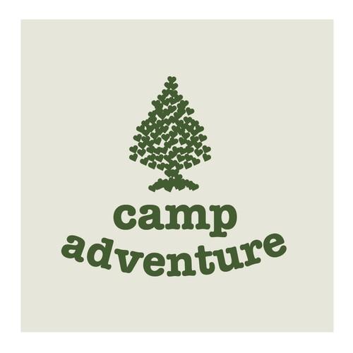 Retro Summer Camp T-Shirt Design