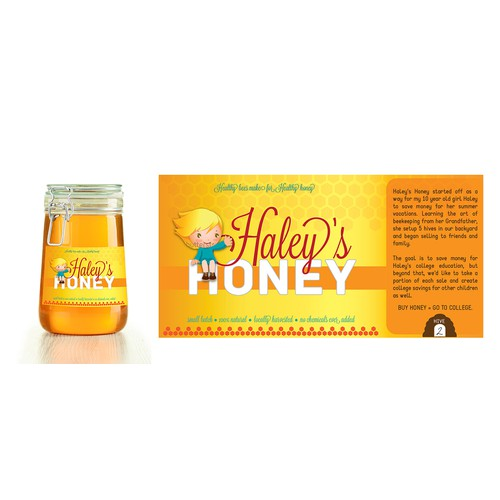 New product label wanted for Haley's Honey