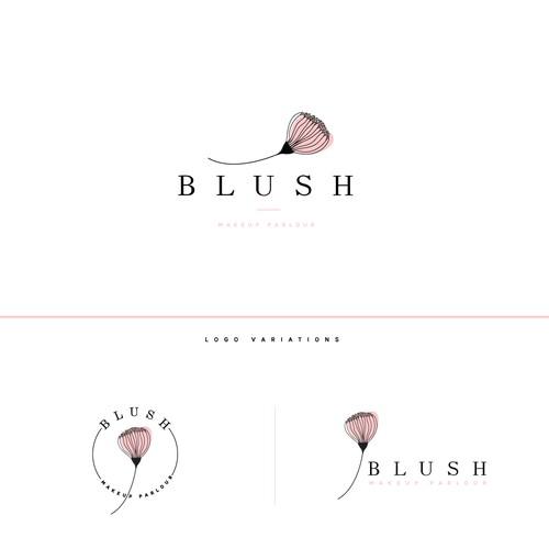 Modern, feminine logo for a Makeup Parlour
