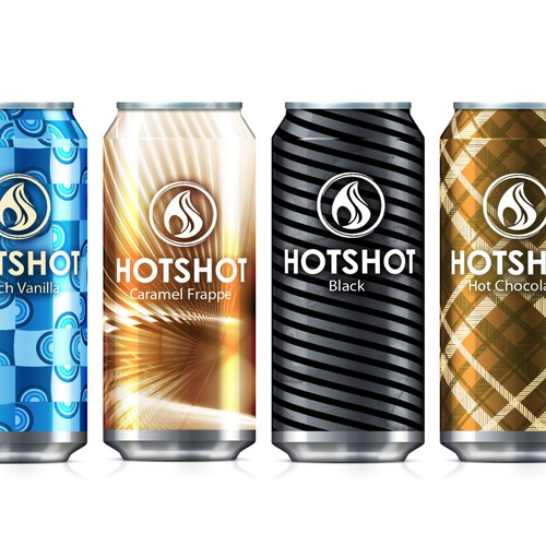 Hotshot - Product Labels for Hot New Drink