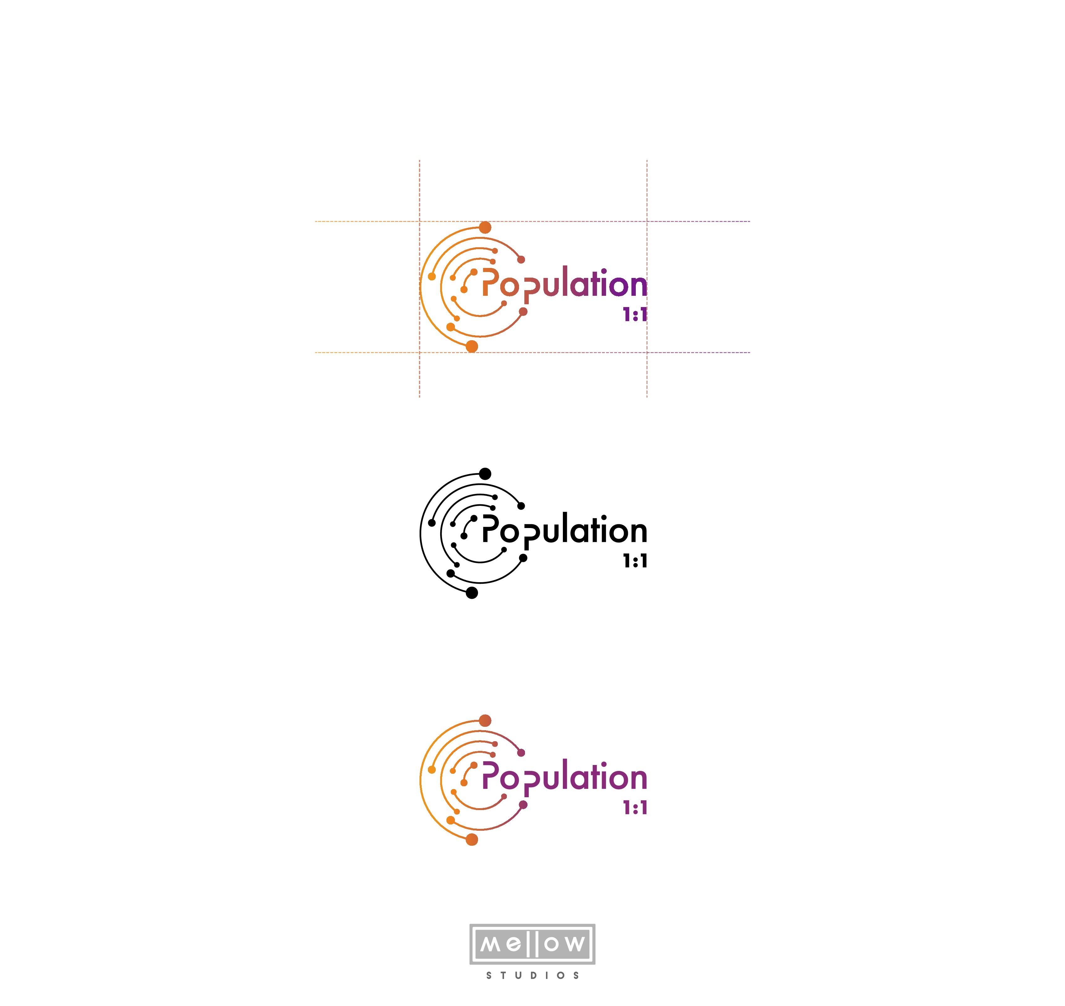 Sophisticated & Creative Logo Design for Data Company--POPULATION 1:1
