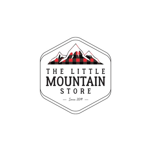 Simple logo for a local retail and food shop.