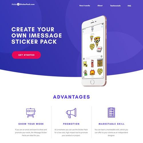 Design for a Sticker-Tutorial Website
