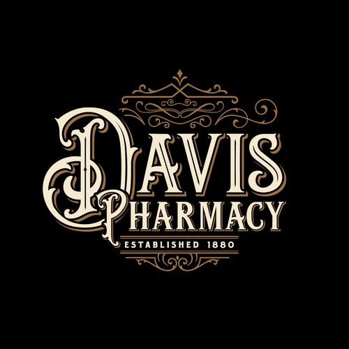 Classic Typography for Davis Pharmacy