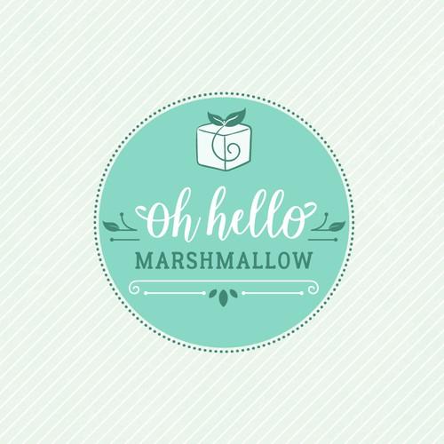 Sweet, feminine logo for an artisan marshmallow brand
