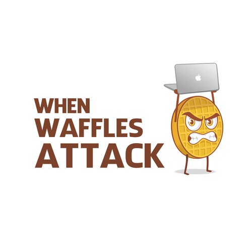 When Waffles Attack logo concept