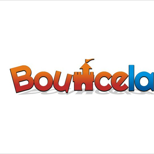 Exciting, playful logo design for a new range of Bouncy Castles