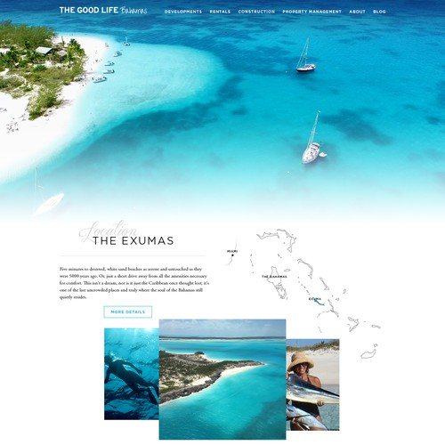 Webdesign for Bahamas private properties