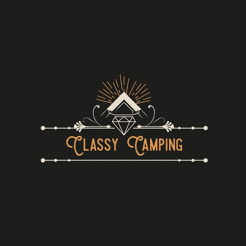 Logo concept for camping