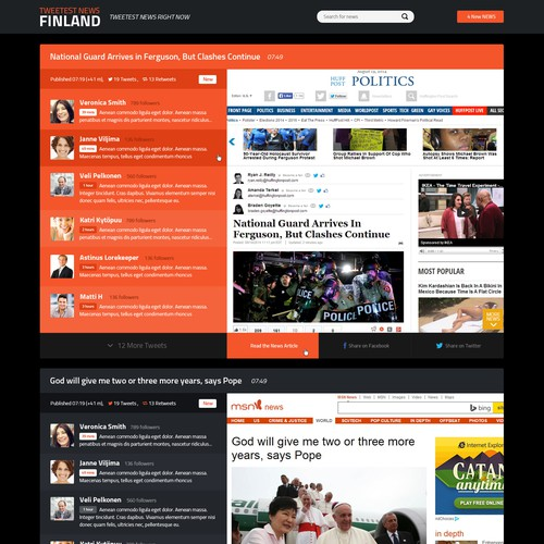 News website design