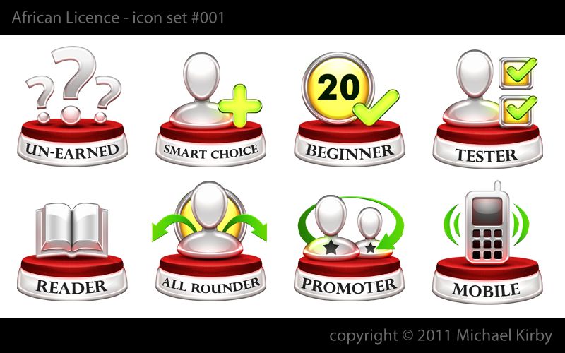 African Licence needs 7 trophies (big icons) designed