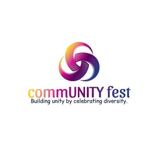 Logo for a family-friendly celebration of DIVERSITY through art, music, food, and fun