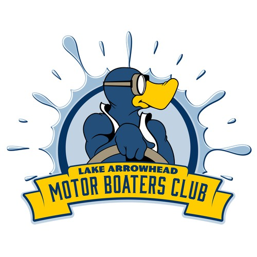 Fun logo for boaters club, one of 4 chosen