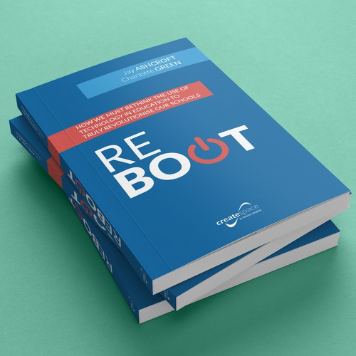 book cover design with mockup presentation