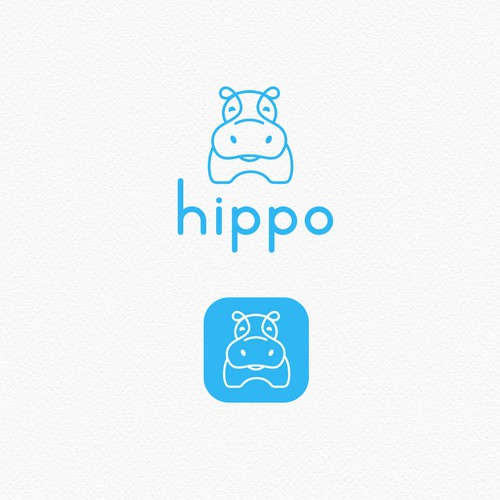 Hippo Outline Logo