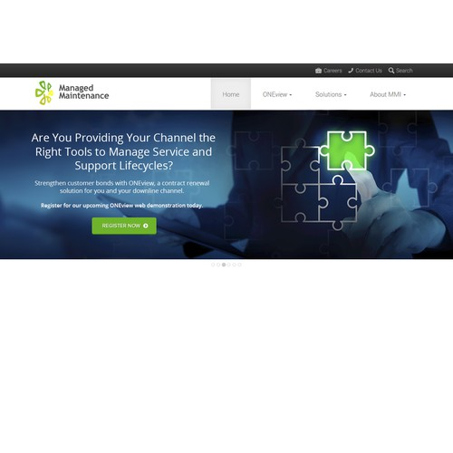 Website Banner for SaaS Technology Company