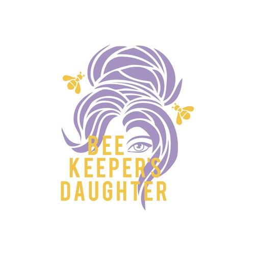 graphic honey lavender beer illustration